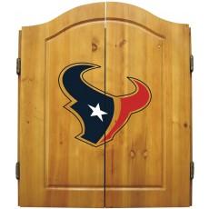 Houston Texans NFL Dartboard Cabinet Set