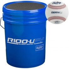 Rawlings Youth Ultimate Practice 30 Baseball/Bucket Combo, R100UPYBUCK30
