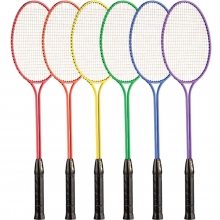 Champion 6/set Twin Shaft Steel Badminton Rackets
