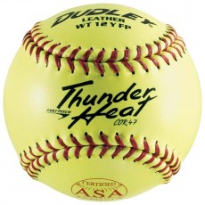 "Dudley 12"", 4A-147Y 47/375,  ASA Thunder Heat Leather Fastpitch Softballs, dz"