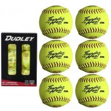"Dudley 12"", 6/pk 4D147RY6 USA/NFHS Poly Fastpitch Softballs"