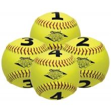 Diamond DTS-SB 1234 Numbered Training Softball Set