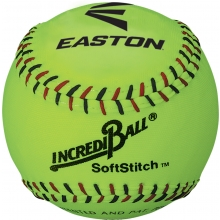 "Easton 11"" Incrediball Neon SoftStitch Training Softball, A122608T, ea"