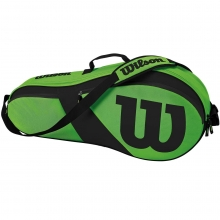 "Wilson Match III 3 Pack Green Tennis Bag, 29""Lx4""Wx13""H"
