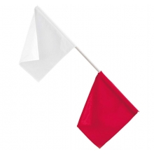 Gill Track Officials' Flags, Red/White
