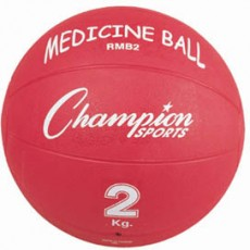 Champion 2 Kilo / 4 lb. Rubber Medicine Ball, RMB2