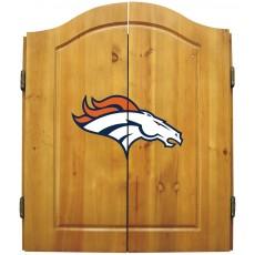 Denver Broncos NFL Dartboard Cabinet Set