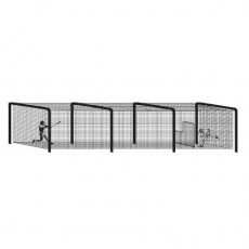 70' Batting Cage Tunnel Frame, 4-Section, Baseball/Softball