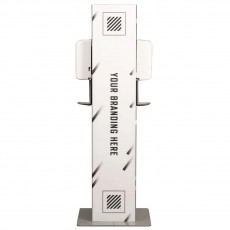 Double Sided Deluxe Hand Sanitizer Station Package