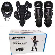 Champro Age 6-9 Hel Max Youth/Tee Ball Catcher's Set, CBSY69B