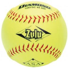 """Diamond 12"""", 12RYSC 44/300 Zulu ASA Synthetic Slowpitch Softball"""