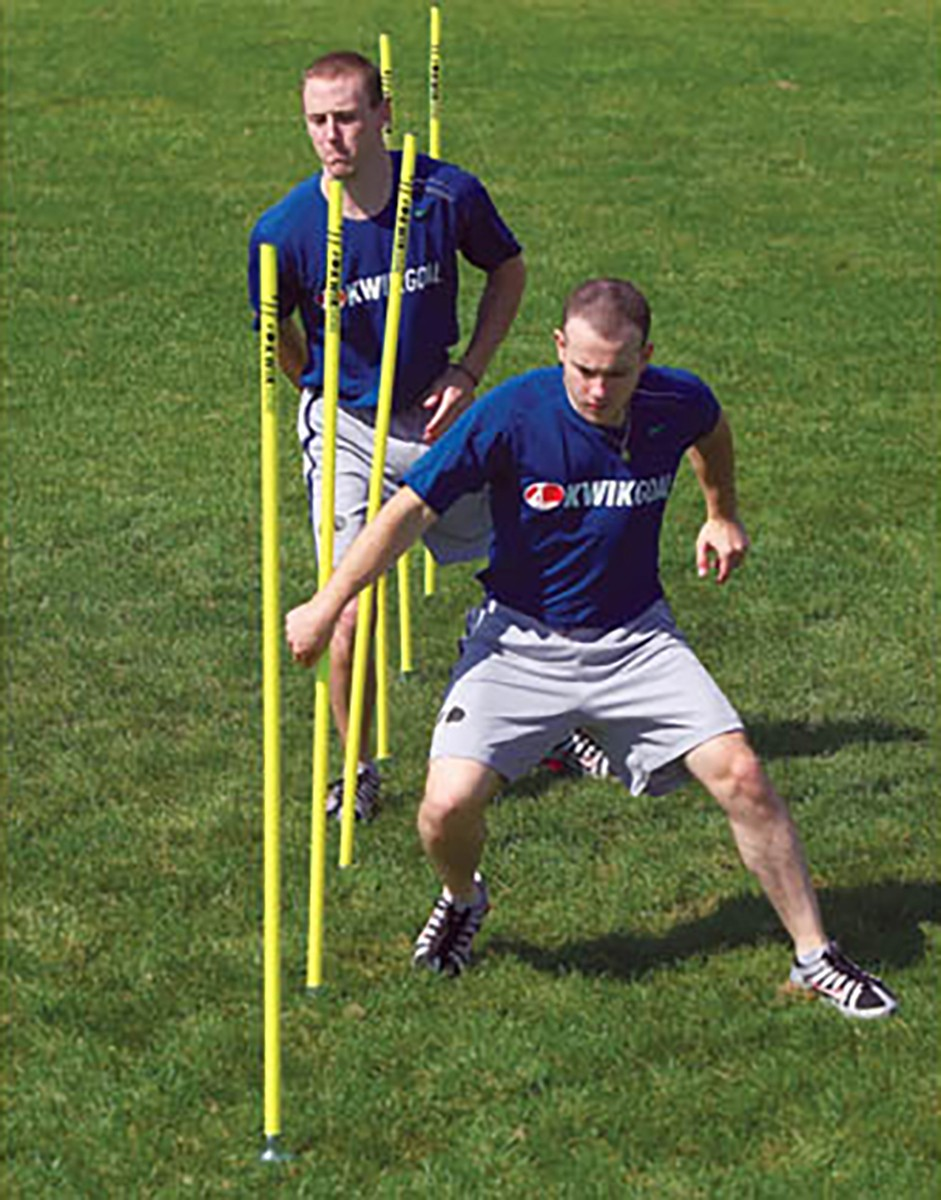 Kwik Goal Set 6 Soccer Coaching Sticks W Steel Peg Base