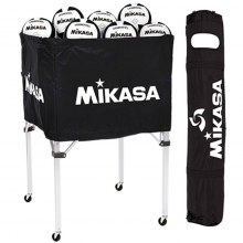 Mikasa BCSPSH Volleyball Cart, BLACK