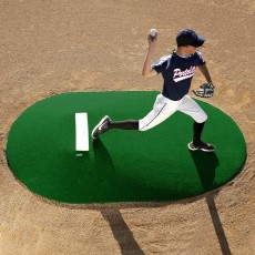 "Portolite 10""Hx11'3""Lx7'7""W Full Length Game Pitching Mound, Green"