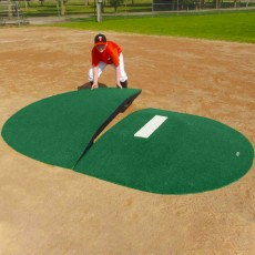"Portolite Two-Piece 8""Hx10'5""Lx7'W Game Pitching Mound, Green"