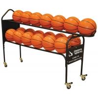 Jaypro DTBR-19 Deluxe Basketball Training Ball Rack