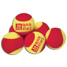 Quick Start 36 Foam Training Tennis Balls, set of 12