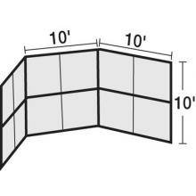 10' x 10' Permanent Baseball/Softball Backstop, BSCL10