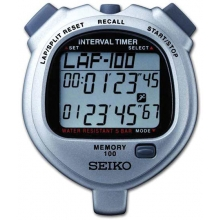 Seiko S057 100 Lap Memory Interval Stopwatch