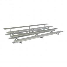 4 Row, 15' STANDARD Low Rise Aluminum Bleacher