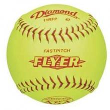 "Diamond 11RFP 47/375 ASA Leather Fastpitch Softballs, 11"", dz"