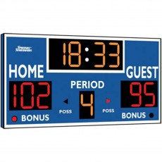 Sportable Scoreboard 2230 Basketball / Volleyball / Wrestling Scoreboard, 8'Wx4'H