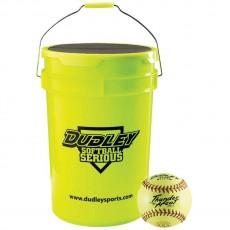"Dudley Bucket with 1dz 11"", 4A531 ASA Fastpitch Softballs"