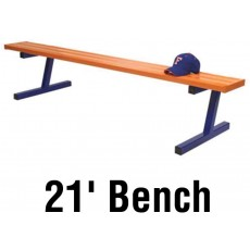 Jaypro 21' PORTABLE Aluminum Player Bench, Powder Coated, PB-5PC