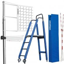Porter Powr-Line INTERNATIONAL Volleyball Net System Package