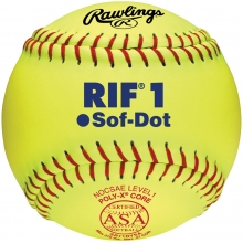 "Rawlings 11"" ASA RIF Level 1 Synthetic Fastpitch Softballs, SR11RYSA , dz"