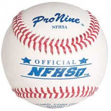 Pro Nine Official NFHSA High School Baseball, DZ w/NOCSAE Stamp