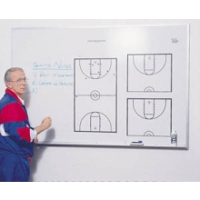 KBA LR-4872-M Locker Room Basketball Playmaker, Magnetic Dry Erase Coaching Board