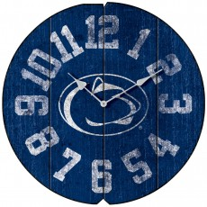 Vintage Round Clock, Penn State, Nittany Lions