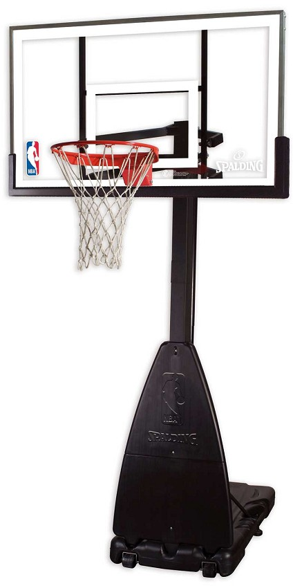 Spalding 54 Quot Glass Portable Residential Basketball Hoop