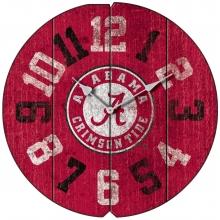 Vintage Round Clock, University of Alabama, Crimson Tide