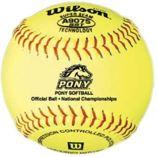 "Wilson 11"", 47/375 Pony Leather Fastpitch Softballs, A9275BSST, dz"