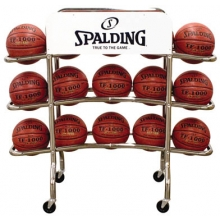 Spalding Replica Pro 15 Ball Basketball Rack, 68-452