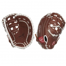 "Rawlings 12.5"" R9 Fastpitch First Base Mitt, R9SBFBM-17DB-3/0"