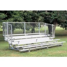 5 Row, 27' STANDARD Aluminum Bleacher w/ Vertical Rail