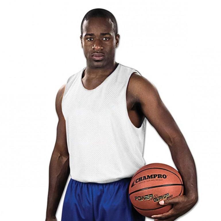 Purple White CHAMPRO Block Polyester Basketball Jersey Womens 3X-Large