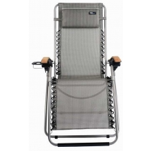 TravelChair Lounge Lizard Folding Chair, Salt & Pepper
