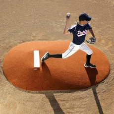 "Portolite 10"" Full Length Game Pitching Mound, Clay"