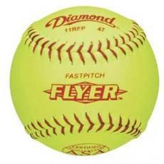 "Diamond 11"", 11RFP 47/375 ASA Leather Fastpitch Softballs, dz"