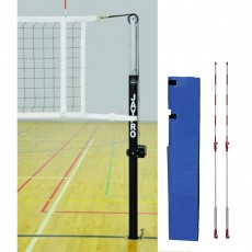 "Jaypro Steel 3-1/2"" Volleyball Net System for 3-1/2"" Floor Sleeves, PVB-1500"