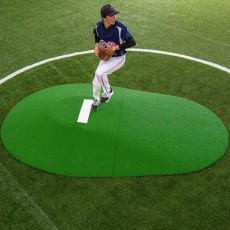 "Portolite Two-Piece 10""Hx11'3""Lx7'7""W Game Pitching Mound, Green"