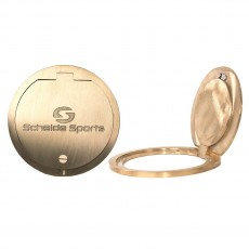 Schelde Brass Hinged Volleyball Floor Plate