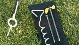 Includes 2 different ground anchors, depending on where you set up your goal