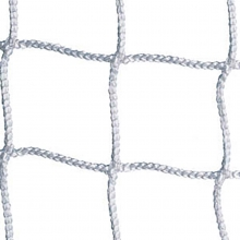 Jaypro 8' x 24' x 4' x 10' Official Soccer Nets 3mm, WHITE SCN-24 (pair)