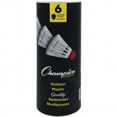 Champion 6/pack Outdoor Plastic Shuttlecocks