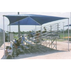 Apollo Bleacher Shade Cover,  24' x 10' x 8' (covers 3 row, 21' bleachers)